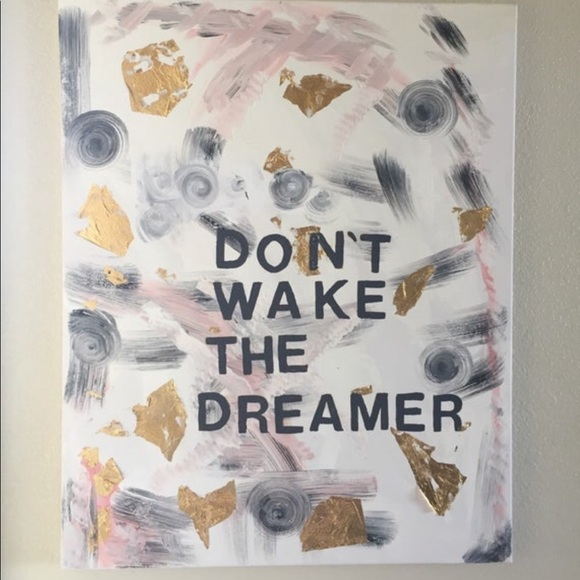 Honorable Citizens Other - Don't wake the Dreamer Bedroom Art Acrylic Canvas